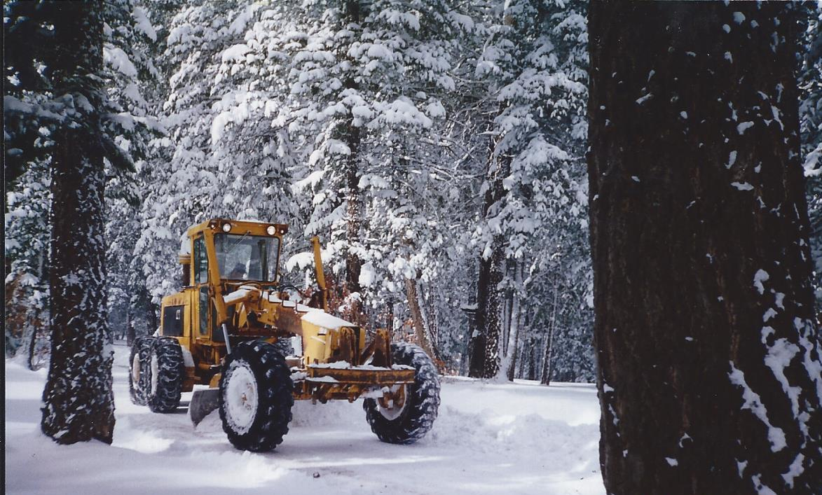 Grader During Snow Storm