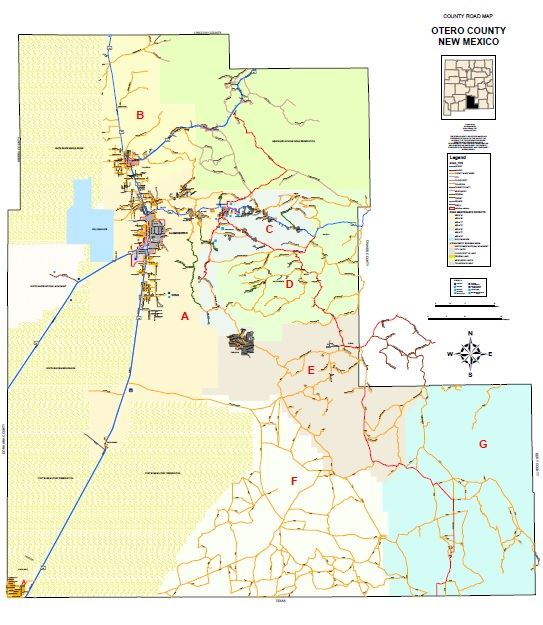 Road Maps Otero County Nm